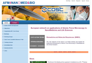 European COST project website: afm4nanomedbio.eu
